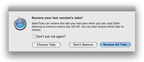 SafariTabs 0.6 Preview