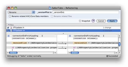 Xcode 3 Refactoring